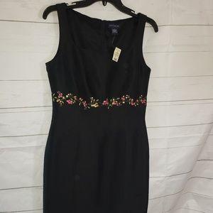 Ann Taylor Black Sleeveless Dress sz 4